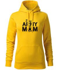 O T kapucnis női pulóver army mom 1061f3512c