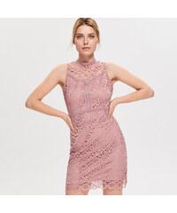 Reserved - Šaty z krajky - Růžová 69dab6ef5a