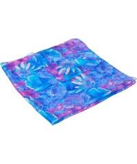 c907376f0ed Pranita Hedvábný šátek s potiskem tyrkysovo-fialový s růžovou
