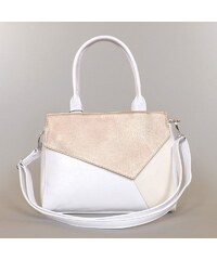 KAREN rostbőr női divattáska fehér-rosegold-bézs színű színű f26c641292