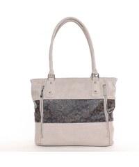 KAREN rostbőr női táska kapucsínó-barna virágmintás színű bde8b3ad99