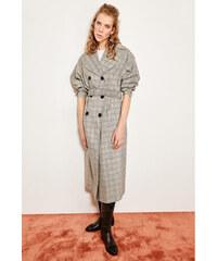 Trendyol Gray Belted Trench Coat Grey 2eee3925539