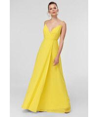 Trendyol Fuchsia Drop-Waist Dress Yellow 5d51dcbf957