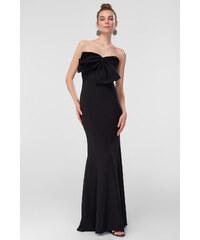 d8a737f8816 Trendyol Fuchsia Bow Detail Dress Black