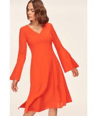 Trendyol Blue arm and Slash Detailed Dress Coral 8a9920d3c72