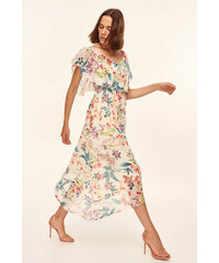 Trendyol Multi-colored Flywheel Detailed Long Dress Multi 092f0eaef4