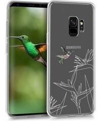 kwmobile Průhledné pouzdro s designem orientální květ pro Samsung Galaxy S9  - růžová 6cb867478f7