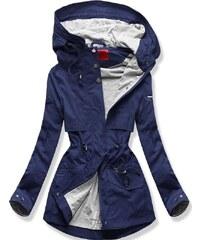 MODOVO Dámská přechodná bunda s kapucí QL-243 tmavě modrá c60ec5ba222