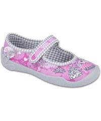 Befado Dievčenské papučky s motívmi princeznej Blanca - ružové 4a5ee2414f
