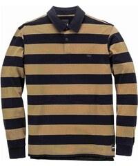 d2373113ca52 tričko SUPRA - Fifty Stripe Ls Polo Black Olv (030) veľkosť  L