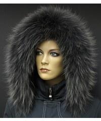Špongr Kožešinový lem na kapuci z mývalovce - 9067 BLACK OLIVA 4e9b4204f6