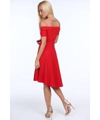 FASARDI Červené dámske šaty so španielskym výstrihom  XL 782cfcfc5c8