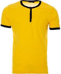 Ombre Clothing Férfi gombos V-nyakú póló Chuck navy - Glami.hu e865d40871