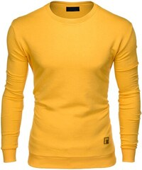 Ombre Clothing Pánská mikina bez kapuce Carrera žlutá 78ea364dcf