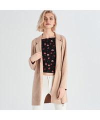 Sinsay - Kabát s vreckami - Ružová 1b7d34a95d7