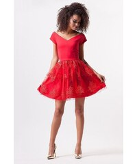 Trendy červené šaty  f8f723456e3