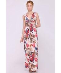 0c79ad833eba Biele kvetované maxišaty s odhalenými ramenami Dorothy Perkins ...