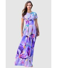 GUNTINA Exkluzivní společenské šaty Akvarelka e62cfa5c1ae