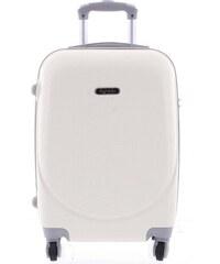 5c0459912e Kvalitný a elegantný pevný krémovo biely cestovný kufor - Agrado Peter M  biela