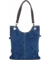 9280a7b863 Genuine Leather Kožené kabelky listonošky Modrá - Jeans