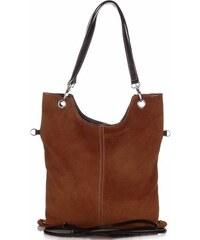 Genuine Leather Univerzální Kožené kabelky Hnědá e00b691114c