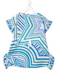 89aab1a8700a Emilio Pucci Junior star print dress - Blue
