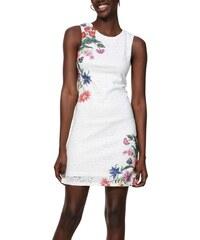 Desigual bílé krajkované šaty Vest Kristal - 36 2a930f7ae52