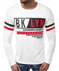 02e432018cbf Biele Pánske tričká s okrúhlym výstrihom