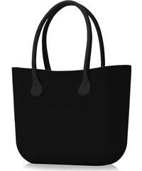 O bag kabelka Nero s černými dlouhými koženkovými držadly 0a70ca28a55