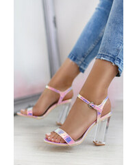 f93b09628b Sergio Todzi Růžovo-stříbrné sandály Lallie