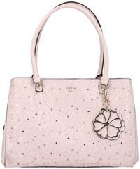 GUESS dámská světle růžová kabelka s květinkovým motivem JAYNE GIRLFRIEND  SATCHEL 5320c8ef68
