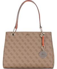 GUESS dámská hnědá kabelka s motivem JACQUI SATCHEL 80d034523fd