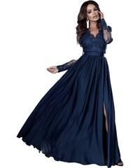 22abc57729e Emo Modrozelené dlouhé šaty Luna