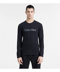 CALVIN KLEIN Pánské tričko CALVIN KLEIN s dlouhým rukávem černé b6b95c1db4