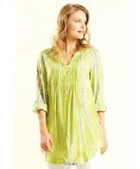 76ad9216fd2d Nomads VIBE dámská letní košile z bavlny - žlutá avocado