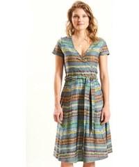 a84f264d9b1f Nomads CROSS dámské letní šaty ze 100% biobavlny - šedomodrá verdigris