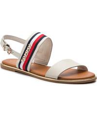d279cee5f2d4 Tommy Hilfiger smetanové kožené sandály Flat Sandal Corporate Ribbon ...