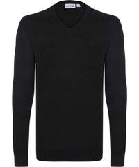 Čierny elegantný sveter od Lacoste bfa39d4bb33