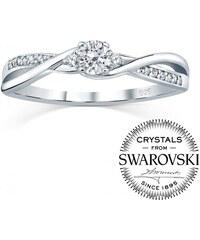 573021829 Silvego Strieborný prsteň so Swarovski Crystals FNJR085sw