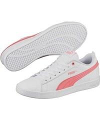 Bílé dámské lesklé tenisky se širokými tkaničkami Puma Basket Heart ... 6da2e5252a8