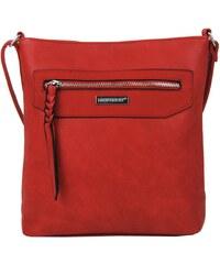 Kožená červená bordó crossbody kabelka cez rameno galine VERA PELLE. Detail  produktu. MDŽ. NEW BERRY Dámska crossbody kabelka NH8041 červená. -15% 3a88be9d587