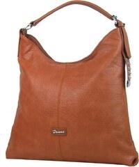 Demra Moderní velká hnědá kombinovaná dámská kabelka 3753-DE f9b2a928549