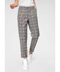 1a5dc7d027c JACQUELINE de YONG Elegantní kalhoty »CAROLINE« vlněná  bílá-černá-růžová-kostková