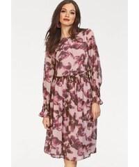 Y.A.S Šifónové šaty »DAHLIA« ružová-kvetinová c11912be1aa