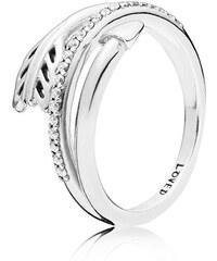 Pandora Třpytivý stříbrný prsten s modrým krystalem 190947NBT ... 73070163e67