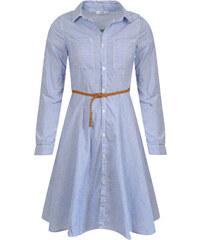 Hailys dámské košilové proužkované šaty Clea modré bc4aa45c20c