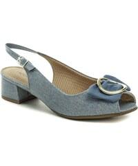 f11efb11e2f8 Piccadilly 114011 modré dámské sandály na podpatku