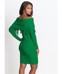 0baea7376c4e bonprix Pletené šaty s Carmen výstřihem