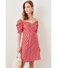 bf4e54e8ad88 Trendyol Red Striped Dress