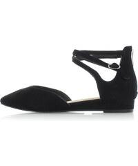 Tamaris Fekete bőr balerina cipő 1-24202 d7153967ed